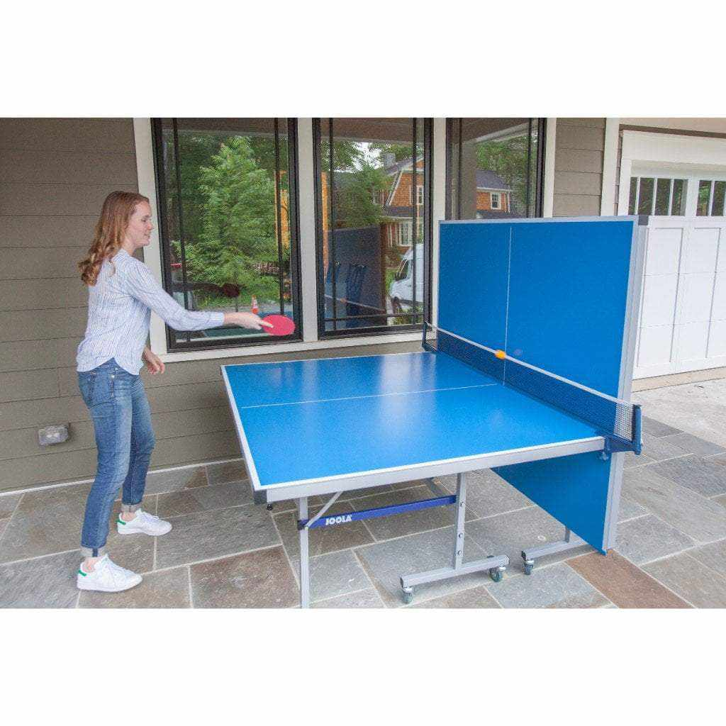 JOOLA Drive Indoor/Outdoor Table Tennis Table with Weatherproof Net Set