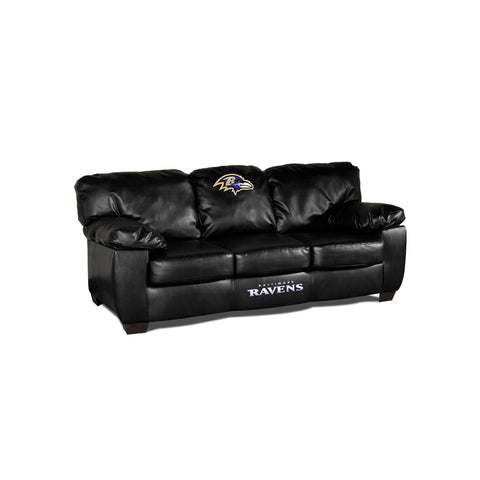 BALTIMORE RAVENS CLASSIC LEATHER SOFA