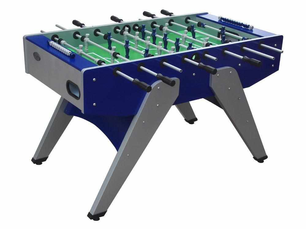 Berner Billiards The Florida Outdoor Foosball Table in Blue with both 1 & 3 man Goalie