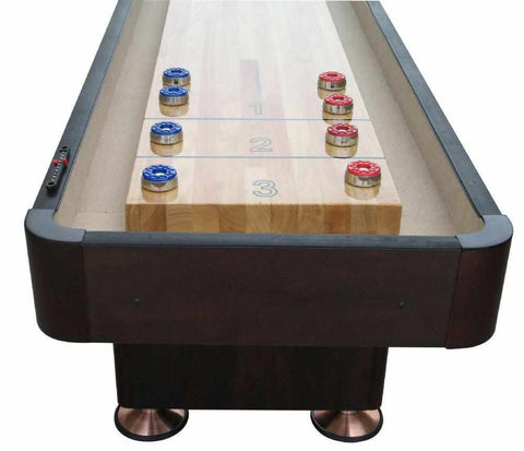 Image of Berner Billiards The Standard 14 foot Shuffleboard Table in Espresso