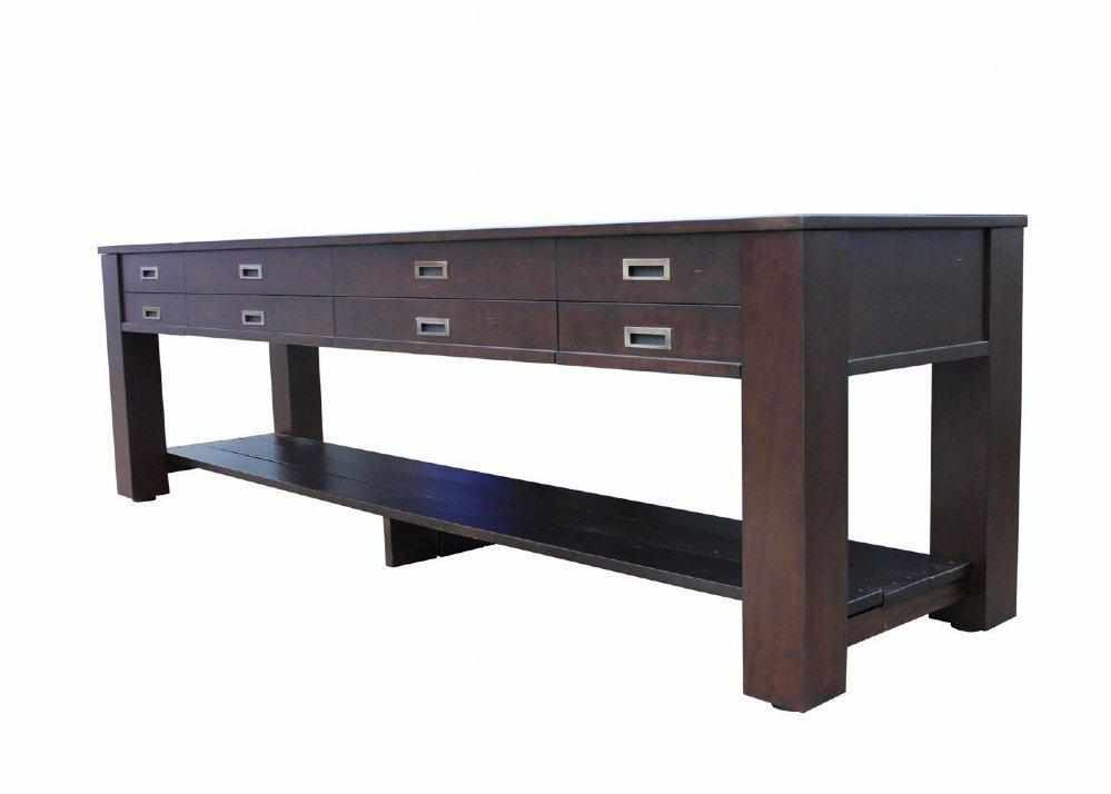 Berner Billiards The Aspen 9 foot - 2 in 1 Shuffleboard & Console Table