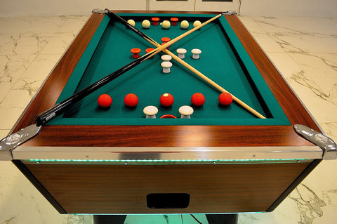 Great American Coin Operated Slate Bumper Pool Table