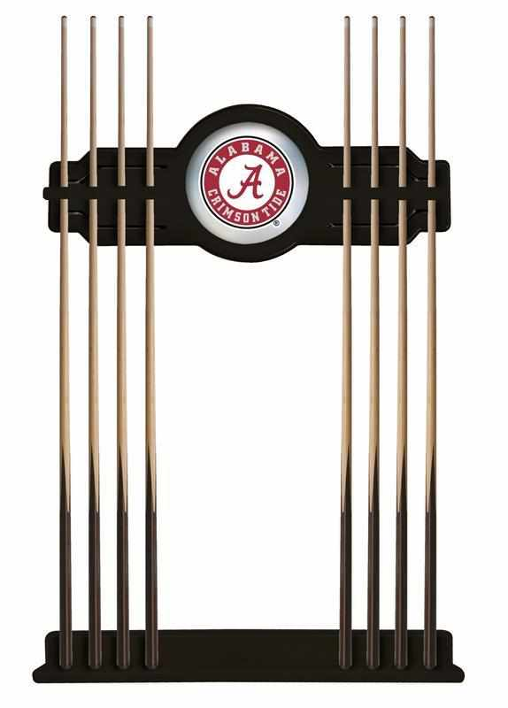 Alabama Cue Rack in Black Finish