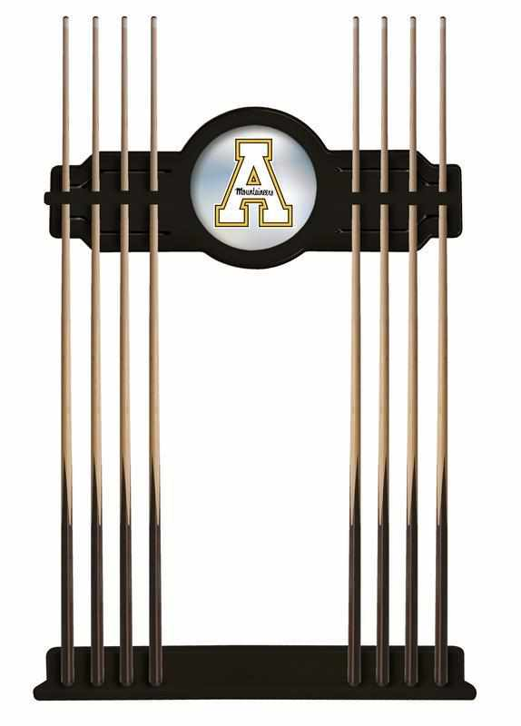 Appalachian State Cue Rack in Black Finish