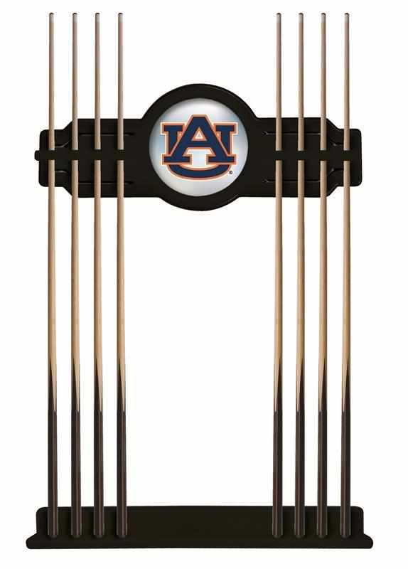 Auburn Cue Rack in Black Finish