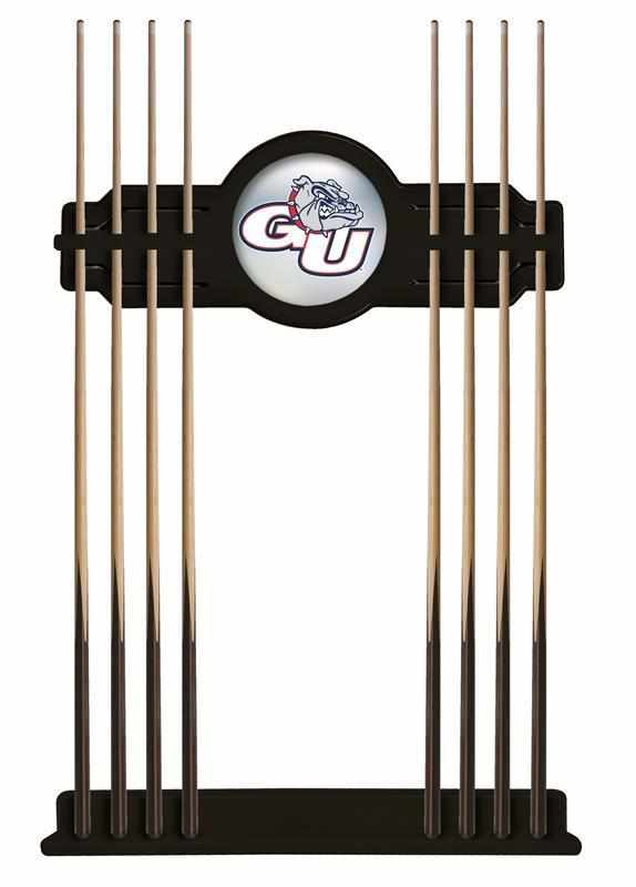Gonzaga Cue Rack in Black Finish