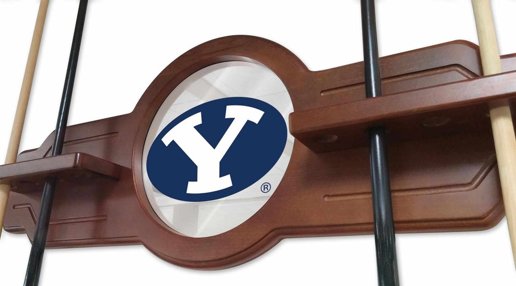 Brigham Young Cue Rack in Black Finish
