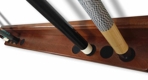 Image of Gonzaga Cue Rack in Black Finish