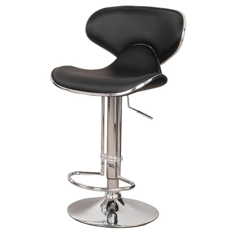 Image of Home Source Gas Lift Bar Stool (2 Per Box) 18893 BLACK