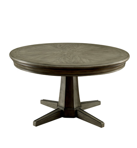 Image of Higley contemporary grey reversible round poker game table