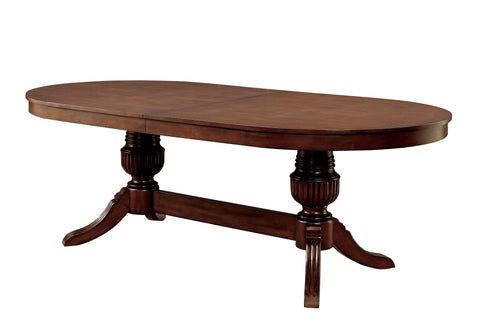 Image of Evan contemporary brown cherry rectangle poker game table
