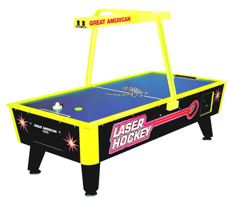 Image of GREAT AMERICAN LASER AIR HOCKEY W/E.SCORE & LIGHT BAR