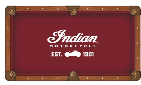 Indian Motorcycle (Script) Pool Table Cloth