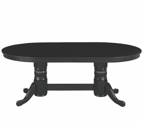 "84"" TEXAS HOLD'EM GAME TABLE WITH DINING TOP- BLACK"