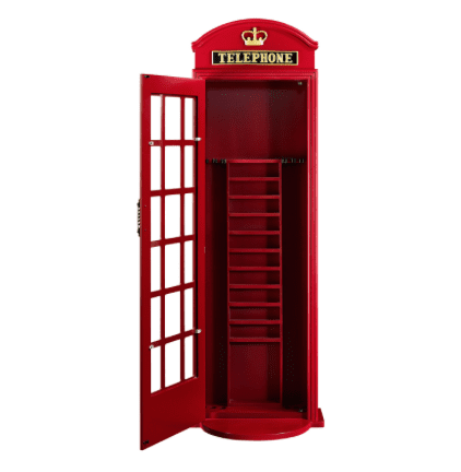 OLD ENGLISH TELEPHONE BOOTH CUE HOLDER