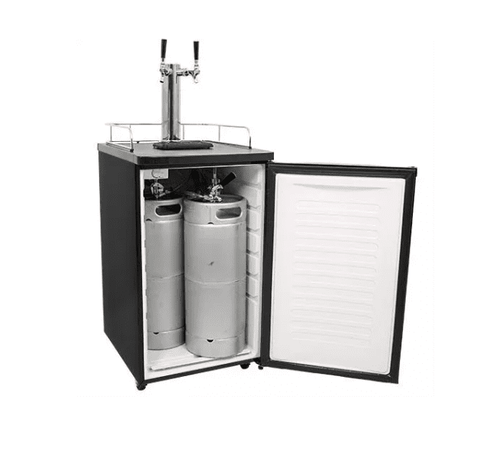 20 Inch Wide Dual Tap Kegerator for Full Size Kegs with Ultra Low Temp