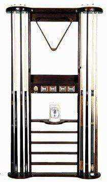 Berner Billiards 8 Cue Wall Rack - Mahogany