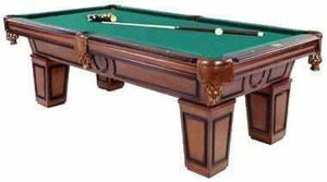 Furniture Pool Table with Tapered Leg in Antique Walnut