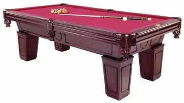 Furniture Pool Table with Tapered Leg in Mahogany