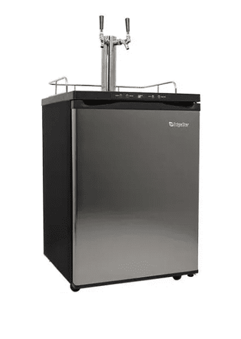 24 Inch Wide Dual Tap Kegerator with Digital Display