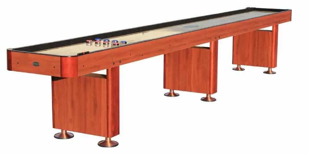 Berner Billiards The Standard 16 foot Shuffleboard Table in Cherry