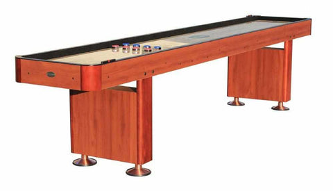 Image of Berner Billiards The Standard 9 foot Shuffleboard Table in Cherry