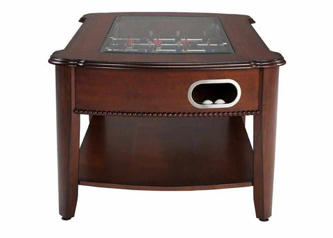 Image of Berner Billiards 2 in 1 Foosball & Coffee Table in Antique Walnut