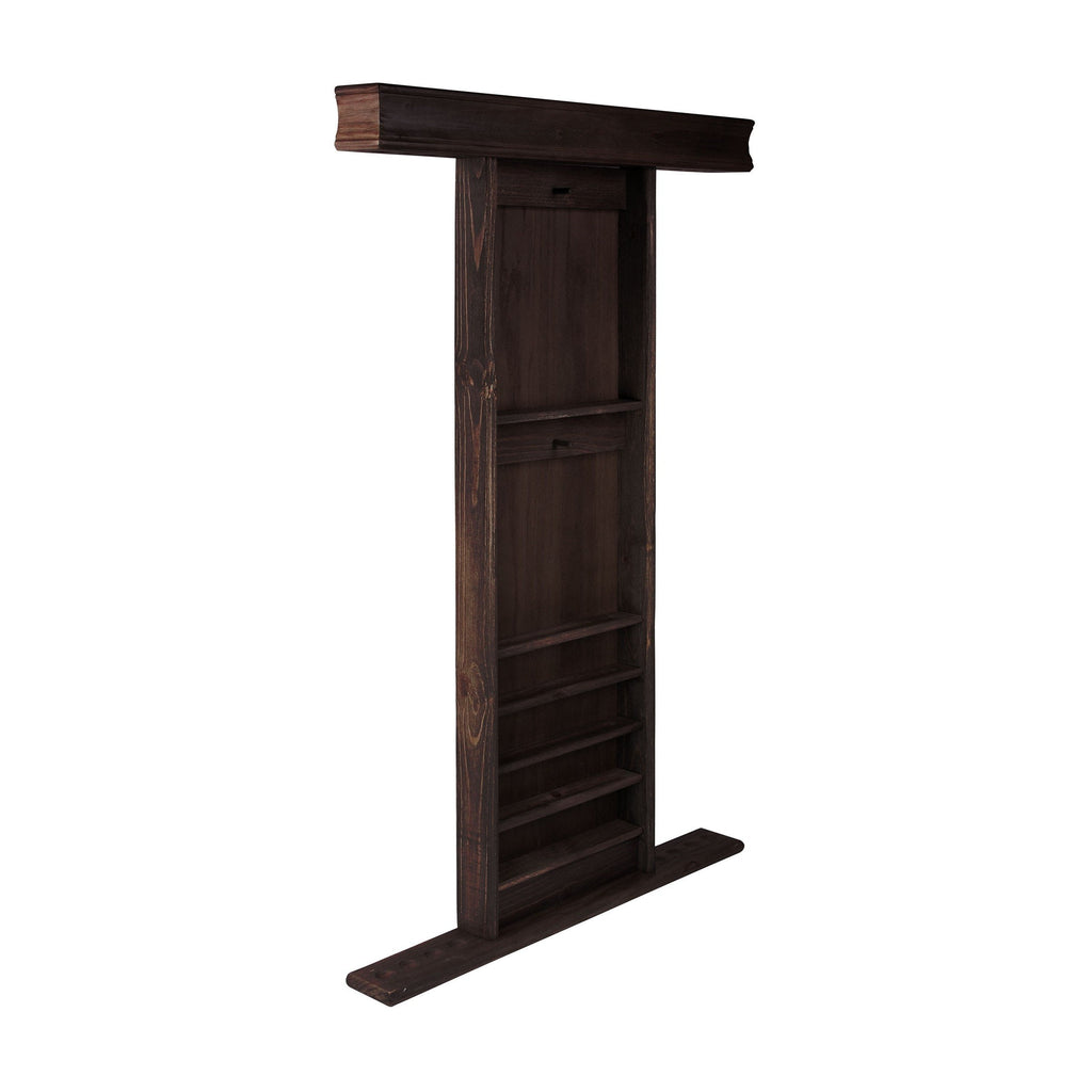 IMPERIAL DELUXE WALL RACK, WEATHERED DARK CHESTNUT