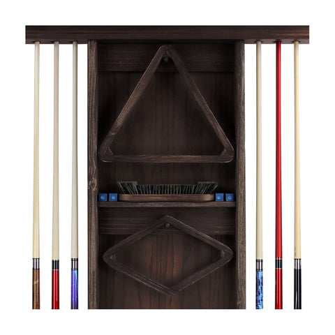 Image of IMPERIAL DELUXE WALL RACK, WEATHERED DARK CHESTNUT