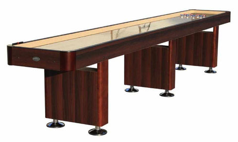 Image of Berner Billiards The Standard 16 foot Shuffleboard Table in Espresso
