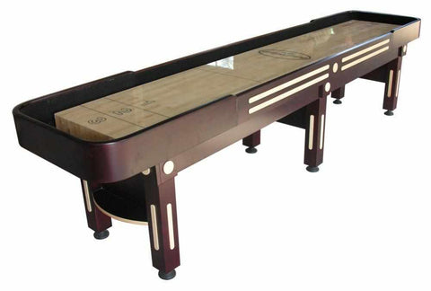 Image of Berner Billiards The Majestic 12 foot Shuffleboard Table in Mahogany