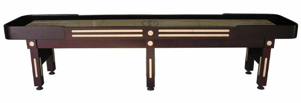 Berner Billiards The Majestic 12 foot Shuffleboard Table in Mahogany