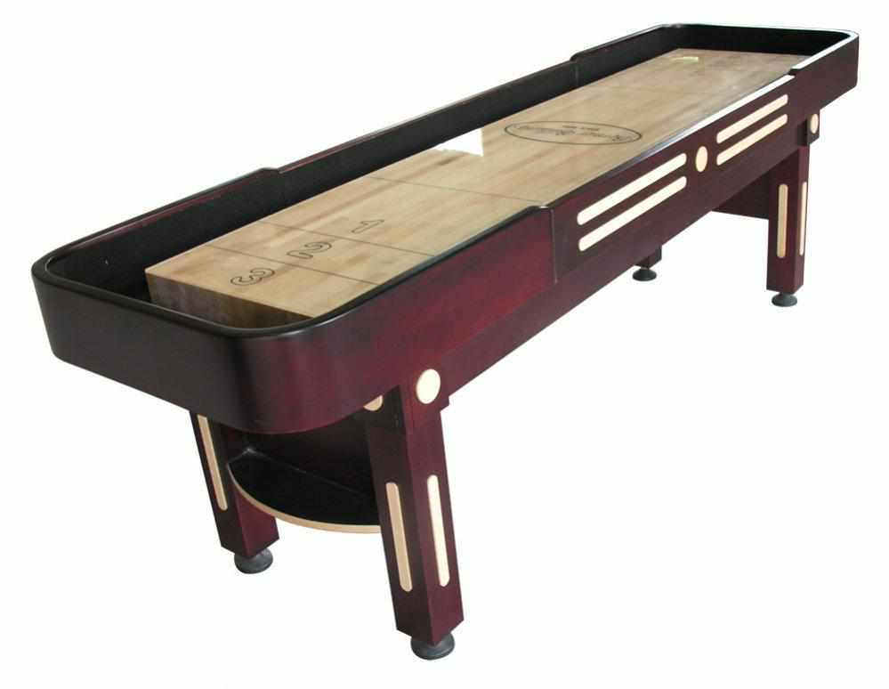 Berner Billiards The Majestic 9 foot Shuffleboard Table in Mahogany