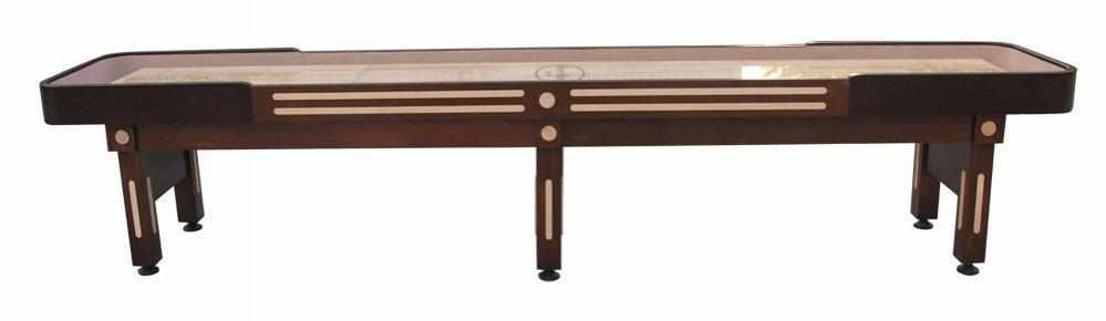 Berner Billiards The Majestic 14 foot Shuffleboard Table in Walnut