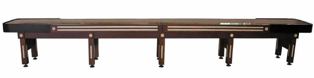 Berner Billiards The Majestic 20 foot Shuffleboard Table in Walnut