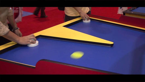 GREAT AMERICAN BOOM-A-RANG FACE OFF AIR HOCKEY TABLE