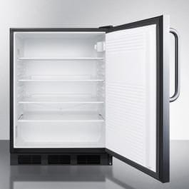 "AccuCold FF7BI Series 24"" 5.5 cu. ft. Compact Refrigerator Stainless Steel FF7LBLCSS FF7LBLCSS"