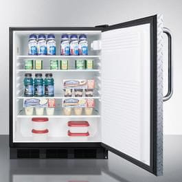 "AccuCold FF7LBLDPLADA 24"" All Refrigerator with 5.5 cu. ft. Capacity Automatic Defrost Factory Installed Lock Interior Light 100% CFC Free in Dia"