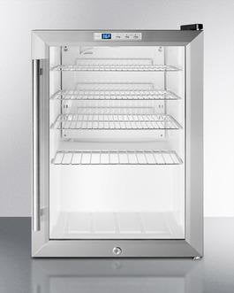 Summit 2.5 Cu. Ft. Freestanding/Built In Beverage Center Stainless Steel SCR312LBICSS