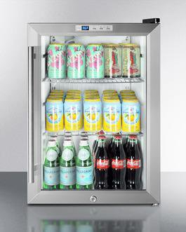 Image of Summit 2.5 Cu. Ft. Freestanding/Built In Beverage Center Stainless Steel SCR312LBICSS
