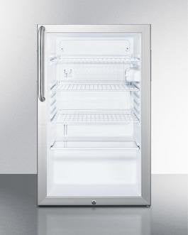 "Image of Summit 20"" 4.1 cu. ft. Compact Refrigerator Aluminum SCR450L7CSS SCR450L7CSS"