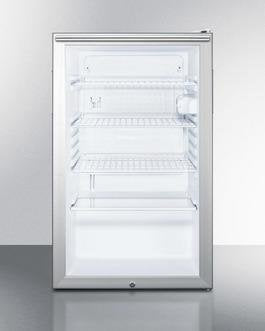 "Image of Summit 20"" 4.1 cu. ft. Compact Refrigerator Stainless Look SCR450L7HHADA SCR450L7HHADA"
