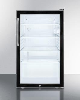 Summit 20 Inch4.1 Cu. Ft. Compact All-Refrigerator Black SCR500BL7CSS