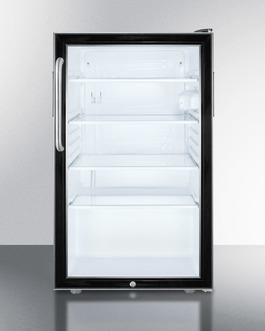 "Image of Summit 20"" 4.1 cu. ft. Compact Refrigerator Black SCR500BL7TBADA"