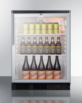 Image of Summit SCR600BGLDTPUBHV Glass Door Craft Beer and Wine Refrigerator