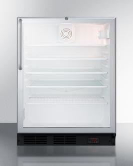 "AccuCold FS24L7CSS 19"" Medical Commercially Approved Compact Freezer with 1.4 cu. ft. Capacity Factory Installed Lock Adjustable Thermostat and Man"