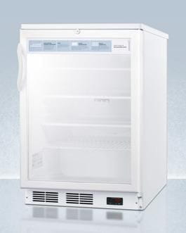 Image of AccuCold 24 Inch5.5 Cu. Ft. Compact All-Refrigerator White SCR600LPRO