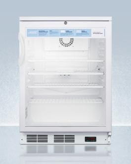 AccuCold 24 Inch5.5 Cu. Ft. Compact All-Refrigerator White SCR600LPRO