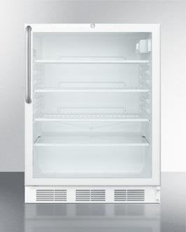 "Image of Summit SCR600LTBADA 24"" 5.5 cu. ft. White Undercounter Compact Refrigerator - ADA Compliant"