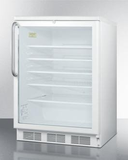 "Image of Summit SCR600LBITB 24"" 5.5 cu. ft. White Undercounter Compact Refrigerator"